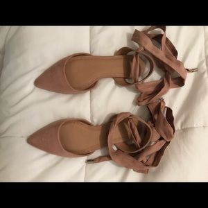 ASOS blush pointed toe flats
